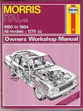 Morris Ital 1.3 all models 1275cc 1980-1984  Haynes Owners Workshop Manual