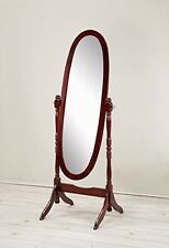 Wood Floor Cheval Full Body Swing Mirror/Traditional Style/Antique/Bedroom