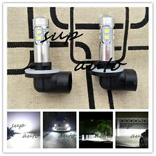 2x Super Bright 881 889 6000k white 55W CREE LED Fog Light Conversion Bulbs Kit