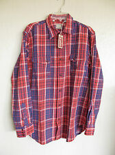 LEVIS VINTAGE CLOTHING NEW LONGHORN SHIRT RED CHECK Small  NWT/$210