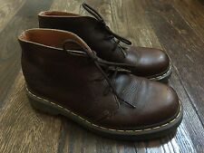Dr. Martens Mens Size 10 Brown Leather Casual Ankle Boots Shoes