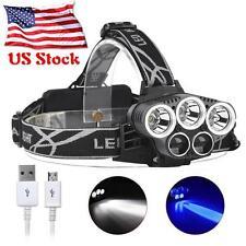 80000Lumen 5X XML T6 LED USB Headlamp Headlight Flashlight Camping Torch Lamp TL
