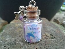 UNICORN MAGIC Fairy Dust Glitter Bottles / Party Bag Favours / Charms / Gift