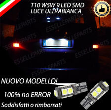 COPPIA LUCI TARGA 9 LED VW TRASPORTER T4 T10 W5W BIANCO CANBUS 100% NO ERROR