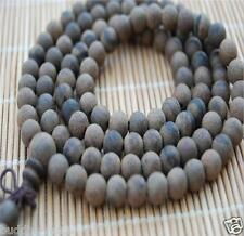 108 6mm Natural Tiger Eaglewood Sandalwood Prayer Beads Buddha Meditate Necklace