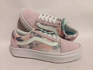 Vans New ComfyCush Old Skool Cloud Wash Orchid Ice/True White Girl's Size USA 13