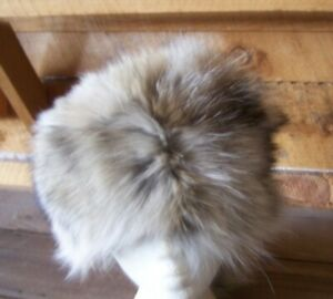 HAND MADE COYOTE FUR  HAT RENDEZVOUS BLACK POWDER MOUNTAIN MAN