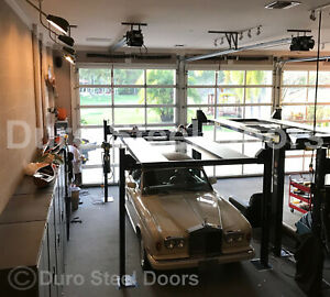 Duro Steel Amarr 3552 Series 20' x 14' Full View Glass Insulated Overhead Door