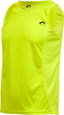 More Mile Mens Running Singlet Sports Vest Tank Top Hi Viz Gym Workout