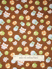 Owl Wise Bird Fabric Wilmington Wonderful Woodlands #69262 Cotton By The Yard