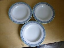 """3 x Villeroy & Boch Switch 3 Rimmed Soup Plates or Bowls Castell - 9"""""""