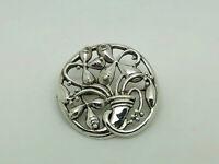 Gorgeous Kit Heath KH93 Vintage Sterling Silver Fancy Stylized Design Brooch