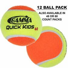 Gamma Quick Kids (Transition) Practice Tennis Balls: Red 36, Orange 60, or Green