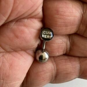 """ALL LENGTHS  """"CUM HERE"""" Logo VCH HEAVY BALL Barbell for EXTRA PRESSURE."""