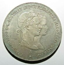 1 Gulden - Franz Joseph I 1854 A Silver SEE CONDITION !!!!