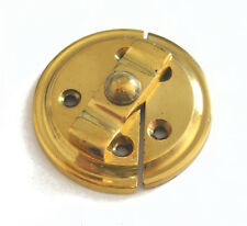 Turn Button on Plate cupboard catch, brass, commercial finish 7-76032