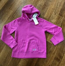 NEW Under Armour UA Pink Girls Hooded HeatGear Loose Fit Sweatshirt YLG large L