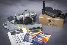 Nikon N75 / F75 35mm SLR Film Camera with Nikon MB-18 vertical grip