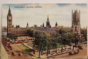 United Kingdom London England Parliament Square Postcard Old Vintage Card View