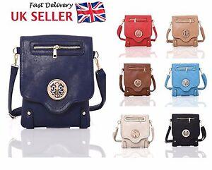 Ladies FOUX Leather Cross Body Messenger Bag Women Shoulder Satchel Handbag