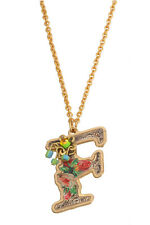 Michal Negrin Shiny Gold Coated F Pendant Necklace #120121410006