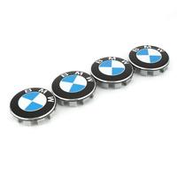 4 x 68mm for BMW Alloy Wheel Centre Hub Cap Trims E30 E36 E46 E60 E92 E90 Blue