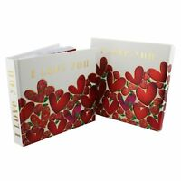 I love You Red Heart Photo Album With Matching Box Valentine Gift WJ118LV