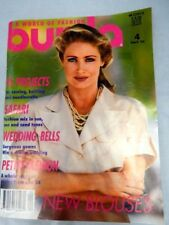 Vintage 1993 burda A World Of Fashion Sewing pattern Magazine Wedding Gowns Tops
