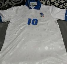 Roberto Baggio Personally Hand Signed Italy 1994 Jersey+ Proof.