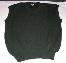 Herren Pullunder Pulli ohne Arm  neu   olivgrün dunkelgrün grau  Wolle/Polyacryl