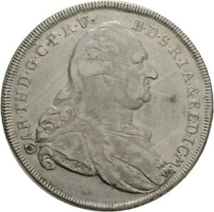 Künker: Bayern, Karl IV. Theodor, 1 Taler 1781 A, Konventionstaler, Madonna