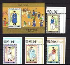 Korea 2001 Men's Costumes MNH