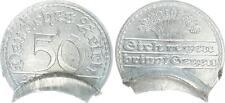 Weimar 50pf. j.301 falla grabado con marcado 2x esto metal pérdida, 1,4g vz