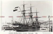 "Netherlands Navy RP Postcard. ""Johan Willem Friso"" Unprotected Cruiser. 1886"