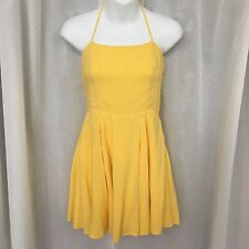 Forever 21 Yellow Halter Top Sundress Size Small (ax)