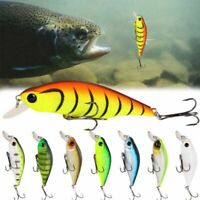 Bass Tackle Minnow Fishing Lures Hard Plastic Bait Deep Diving Crankbait