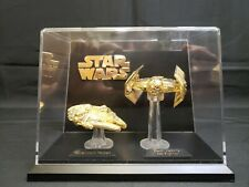 Lewis Galoob Star Wars Millennium Falcon & Darth Vaders TIE Fighter Gold Plated