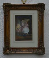 After Jean Fragonard Gouache  Figures in 18th Century Dress Courting Scene (2)