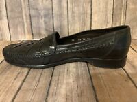 Bragano Cole Haan Woven 06176 Black Leather Loafers Men's Size 10