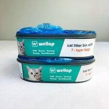 2 Pack Wellap Cat Litter Disposal System Refills (7-layer Bags)