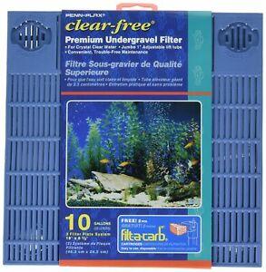 "Penn Plax Premium Clear Free Undergravel Aquarium Filters 10 Gallon 9.5"" x 1..."