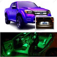 For Ford Ranger 1998+ Green LED Interior Kit + Xenon White License Light LED