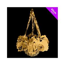 Theme Machine 40cm Foil Chandelier - Gold - Christmas Ceiling Decoration Choose
