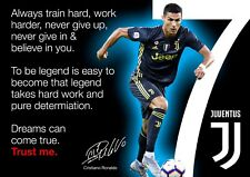 Ronaldo Juventus Poster #1002 - motivational quotes - A3 - 420mm x 297mm (new)