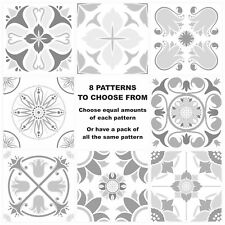 Grey Mosaic Pattern Stickers Transfers For 145mm x 145mm (14.5cm) Tiles G24