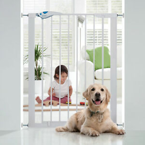 91cm Extra Tall No Drill PressureFit Toddler Baby Safety Stairs Gate 82cm Steel