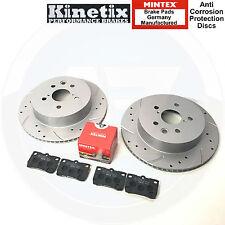 Kinetix con hoyuelos Ranurado Discos De Freno Trasero Mintex Almohadillas Lexus IS220D IS220D IS250