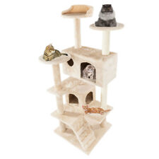 """52"""" 60"""" Cat Tree Tower Condo Furniture Scratch Post Pet Tree Kitty Play House"""