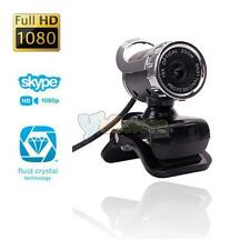 USB Pro HD 10X Optical Zoom WebCam Computer PC Laptop Web Camera 360°Clip-on MIC
