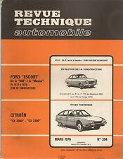 REVUE TECHNIQUE AUTOMOBILE 355 RTA 1976 SIMCA 1307 S GLS 1308 GT CITROEN SM INJ